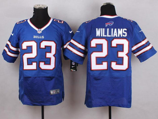 Mens Nfl Buffalo Bills #23 Aaron Williams Light Blue Elite Jersey
