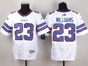 Mens Nfl Buffalo Bills #23 Aaron Williams White Elite Jersey