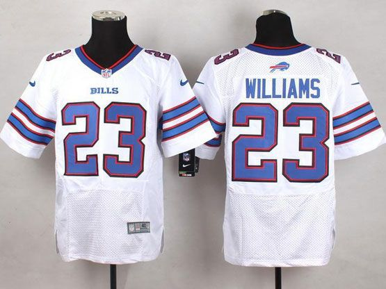 Mens Nfl Buffalo Bills #23 Aaron Williams White Elite Jersey