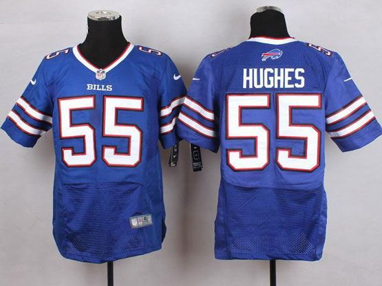 Mens Nfl Buffalo Bills #55 Jerry Hughes Light Blue Elite Jersey