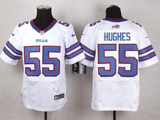 Mens Nfl Buffalo Bills #55 Jerry Hughes White Elite Jersey