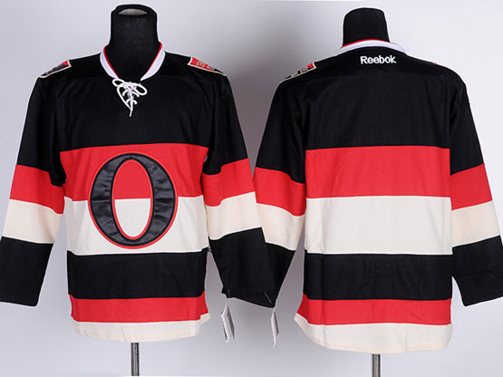 Mens Reebok Nhl Ottawa Senators (blank) Black&white Jersey