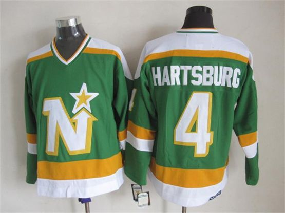 Mens Nhl Dallas Stars #4 Hartsburg Green(white Shoulder) Throwbacks Jersey Dt