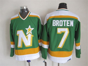 Mens Nhl Dallas Stars #7 Broten Green(white Shoulder) Throwbacks Ccm Jersey Dt