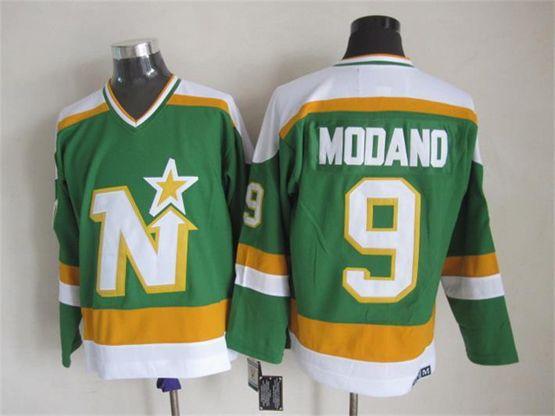 Mens Nhl Dallas Stars #9 Modano Green(white Shoulder) Throwbacks Ccm Jersey Dt