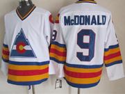 Mens nhl colorado avalanche #9 mcdonald white throwbacks Jersey