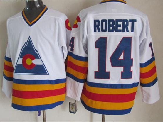 Mens nhl colorado avalanche #14 robert white throwbacks Jersey