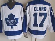 Mens nhl toronto maple leafs #17 clark white throwbacks Jersey