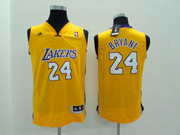 Youth Nba Los Angeles Lakers 24 Bryant Yellow Jersey(p)