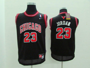 Youth Nba Chicago Bulls #23 Jordan (red Number&white Name) Black Jersey