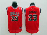 Youth Nba Chicago Bulls #23 Jordan (black Name) Red Jersey