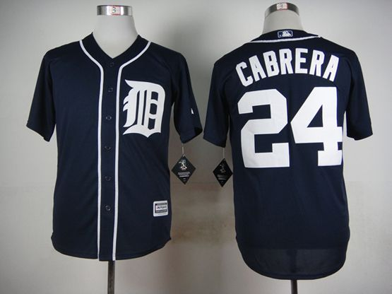 Mens Mlb Detroit Tigers #24 Cabrera Blue (2015 Majestic) Jersey