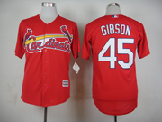 Mens Mlb St.louis Cardinals #45 Gibson Red 2015 New Jersey