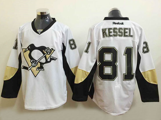 Mens Reebok Nhl Pittsburgh Penguins #81 Kessel White Jersey (dt)