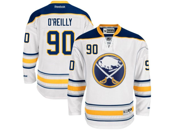 Mens reebok nhl buffalo sabres #90 ryan o'reilly white (2015 new) Jersey