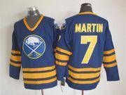 Mens nhl buffalo sabres #7 martin blue throwbacks Jersey