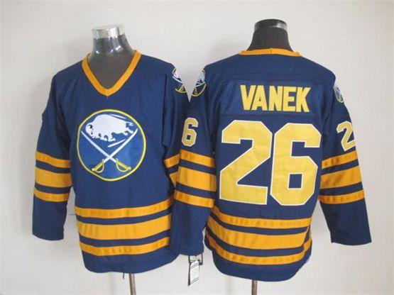 Mens nhl buffalo sabres #26 vanek blue throwbacks Jersey
