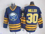Mens nhl buffalo sabres #30 miller blue throwbacks Jersey