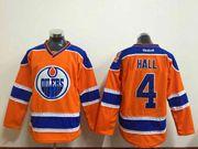 Mens nhl edmonton oilers #4 hall orange Jersey