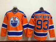 Mens nhl edmonton oilers #93 nugent-hopkins orange Jersey