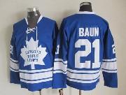 Mens Nhl Toronto Maple Leafs #21 Baun Blue Throwbacks Jersey Dt Sn