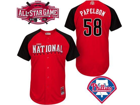 Mens Mlb 2015 All Star Philadelphia Phillies #58 Papelbon Red Jersey
