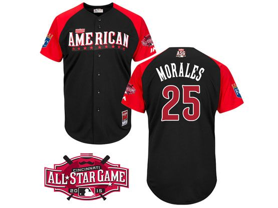 Mens Mlb 2015 All Star Kansas City Royals #25 Morales Black Jersey