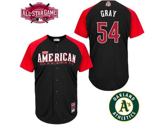 Mens Mlb 2015 All Star Oakland Athletics #54 Gray Black Jersey