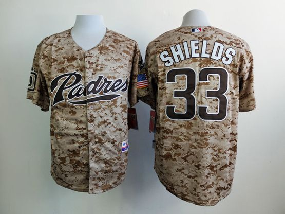 Mens Mlb San Diego Padres (custom Made) Camo Jersey