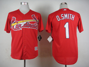 Mens mlb st.louis cardinals #1 o.smith red 2015 new Jersey