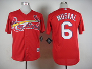 Mens mlb st.louis cardinals #6 musial red 2015 new Jersey