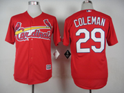 Mens mlb st.louis cardinals #29 coleman red 2015 new Jersey