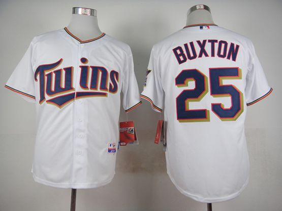 mens mlb minnesota twins #25 buxton white 2015 new Jersey