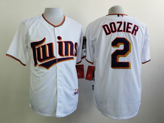 Mens mlb minnesota twins #2 dozier white 2015 new Jersey