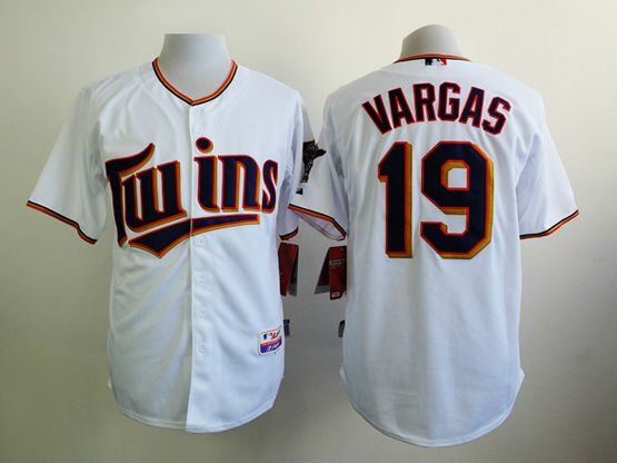 Mens mlb minnesota twins #19 vargas white 2015 new Jersey