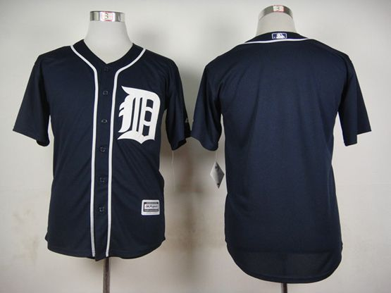 Mens Mlb Detroit Tigers Blank Blue (2015 Majestic) Jersey