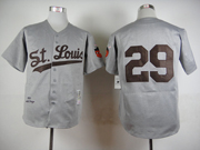 Mens Mlb St.louis Browns #29 Paige Gray 1953 Throwbacks Jersey(no Name)