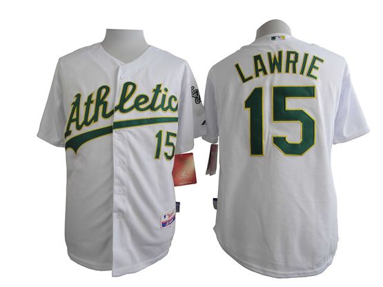 Mens mlb oakland athletics #15 lawrie white Jersey