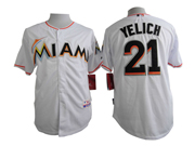 Mens mlb miami marlins #21 yelich white Jersey