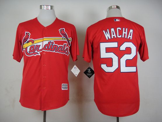 Mens mlb st.louis cardinals #52 wacha red 2015 new Jersey