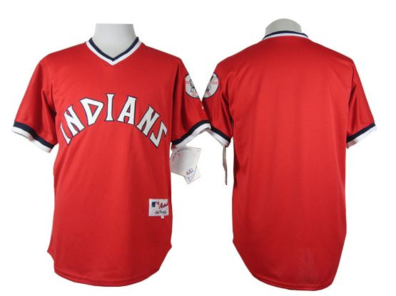 Mens Mlb Cleveland Indians Blank Red 1974 Jersey