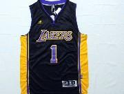 Mens Nba Los Angeles Lakers #1 Russell Dark Purple Jersey (p)