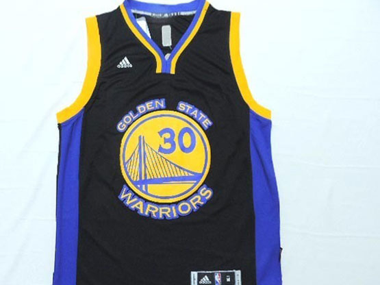 Mens Nba Golden State Warriors #30 Curry Black Jersey (yellow Name)