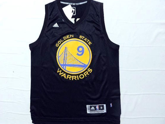 Mens Nba Golden State Warriors #9 Iguodala Black (yellow Name) Jersey