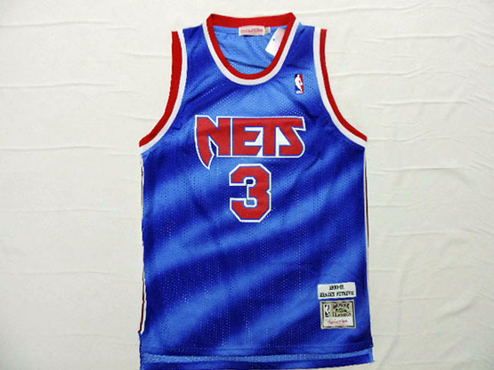 Mens Nba Brooklyn Nets #3 Petrovic (nets) Blue Mesh Jersey