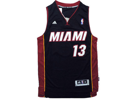 Mens Nba Miami Heat #13 Napier Black Revolution 30 Jersey (p)