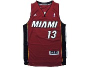 Mens Nba Miami Heat #13 Napier Red Revolution 30 Jersey (p)