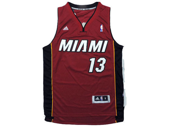 Mens Nba Miami Heat #13 Napier Red Revolution 30 Jersey (p)