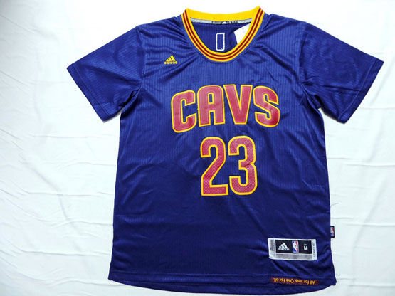 Mens Nba Cleveland Cavaliers #23 Lebron James Blue (short Sleeve) Jersey