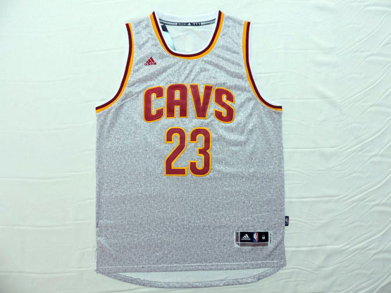 Mens Nba Cleveland Cavaliers #23 Lebron James Gray(cavs 2015 New) Jersey